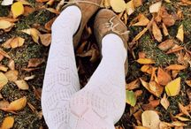Leaves, stocking and cosy things.