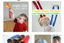 The Olympics Theme- Weekly Home Preschool / Ideas for a preschool theme week about the Olympics.  Crafts, learning activities, snacks, gross motor, fine motor, picture books, and more!