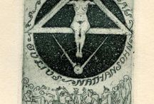 Exlibris / Bookplates - freemasonry / This pinboard is a part of my virtual bookplate collection. At home I have a real collection. I buy, sell and exchange bookplates of good artistic quality. Interested? Please contact me at exlibrist@upcmail.nl