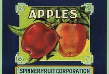 Apple crates and labels