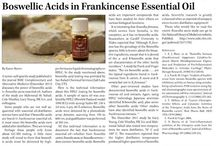 Sacred Frankincense / Research, articles, information on Sacred Frankincense and cancer.