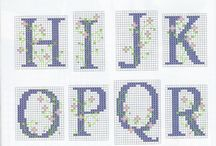Γράμματα και αριθμοί σταυροβελονιά