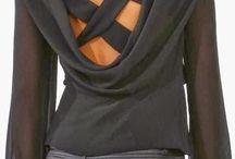 blusas pretas