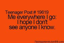 Teenager posts #relatable