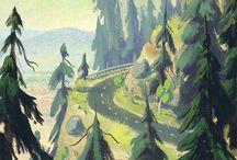 paisajes ilustrados