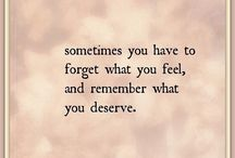 forget wat you feel ..