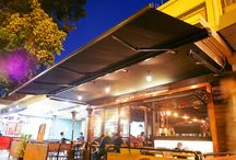 Folding arm awning for cafe, Sydney