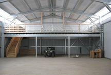 Warehouse interior and lofts