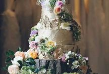 Botanical wedding cake