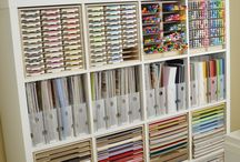 Organization - papers - scrapbooking - materials