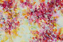 "Ember Fairbairn / In Ember Fairbairn's paintings, colour, a dappled surface, shape and the play between these elements creates a space where we 'actually begin to see the invisible interconnectedness behind this world. We go ""backstage"" to where it is all being formed' the artist explained. View or buy her full collection here: http://platformstore.com.au/collections/ember-fairbairn"