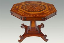 Marquetry / Marquetry is the art of creating decorative designs and pictures by skillfully utilizing the grain and colors of thin veneers, or other materials such as shell. Marquetry can be traced back to the ancient Egyptians.