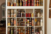 Inspiration :: Pantry / Our pantry is a well stocked shelf in our urban apartment, we love it. Here are some more we are coveting and inspiration for future pantries!