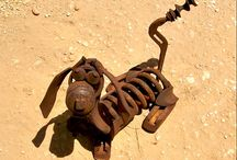 welded rusty crafts