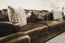 Leather / We carry a wide array of leather in our showroom, in multiple price points. Stop by to see the selection.