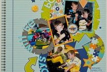 Scrapbook Page Ideas - Boys