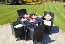 Black Rattan Garden Furniture / Luxury Rattan Garden Furniture at Reasonable Prices!  Get yours today at http://rattan-gardenfurniture.co.uk/