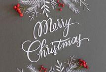 harmaa pihlaja joulu korttti