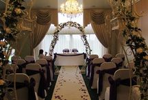 """Wedding arches, aisle carpet runners and ceremony dressing / Give the spot where you say """"I do"""" a beautiful backdrop with a gorgeous wedding arch"""
