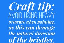 #CRE8TIME Craft Tips / Useful Tips to help you #CRE8TIME for the things you love!