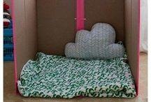 reciclando cajas de carton