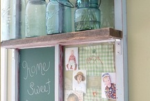 Vintage window crafts