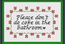 Naughty Cross Stitch / Gangster and Craft collide / by Courtney Gould