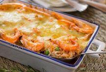 arroz com camarão ao forno