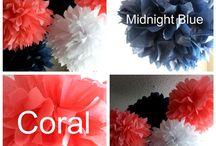 Décoration / Thème couleurs Bleu marine, Rouge, Corail