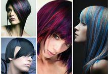 Колорированние тёмных волос