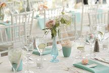 Peach and Aqua Weddings