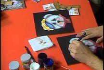 Vídeos de pintura decorativa y tela / Pintura
