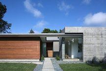 Modern houses / Entrance