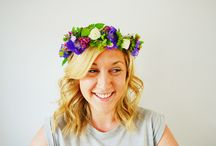 Tutorials / How to make a floral crown for a wedding by Lily & May