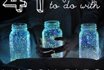 Mason Jar Jazz / Marvelous Mason Jar Jazzy inspirational craft cool worthy of Sparkle by Monica giggles. hehe