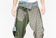 Japanese Pants / Tribal inspired handmade contemporary Japanese style pants. Great for any performing arts while stay super comfy for daily wear.