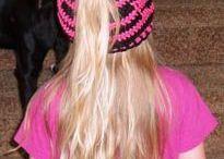 ponytail crochet hat