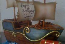 Пиратский торт-корабль