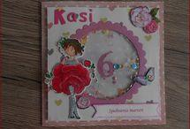 kartka dla dziewczynki