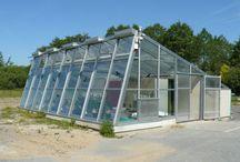 Solární skleník - solar greenhouse.