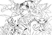 ❧ Coloring fantasy &nd JadeDragonne