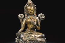 Ancient Buddhist statues.