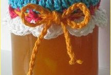tapas frascos crochet
