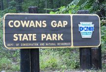 Area Attractions - Cowans Gap State Park / Park # (717) 485-3948 : Offers hiking trails, a lake with a sandy beach for swimming, paddle and row boat rentals, fishing and a concession stand.