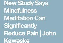 Meditation to reduce pain