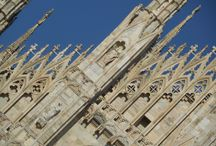The Duomo, Milan / Details of the amazing facade with thousands of statues and reliefs.