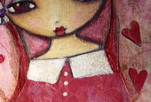 mixed media and artist love / by Linda VeganHeart