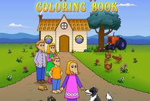 Coloring Book / Join Maple Wafflehoffer on an adventure on her Uncle Pete's farm. With over 30 ready-to-color illustrations, children will meet a cat, mouse, cow, sheep, dog and many other farm animals as Maple goes in search of a mare and her foal.