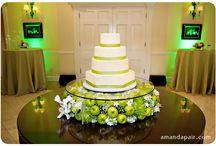 Green & White Wedding Cake ideas