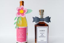 DIY Bridesmaid and Groomsman Gifts / Here's a classy way to ask your besties to be a part of your big day. Attach your request to a bottle of their favorite bottle of wine or spirits using VELCRO® Brand fasteners.